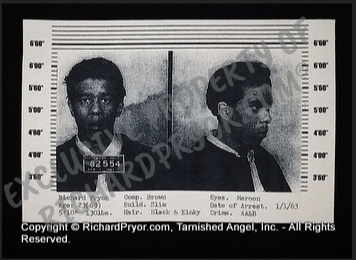 Richard Pryor 1963 Mugshot T-Shirt